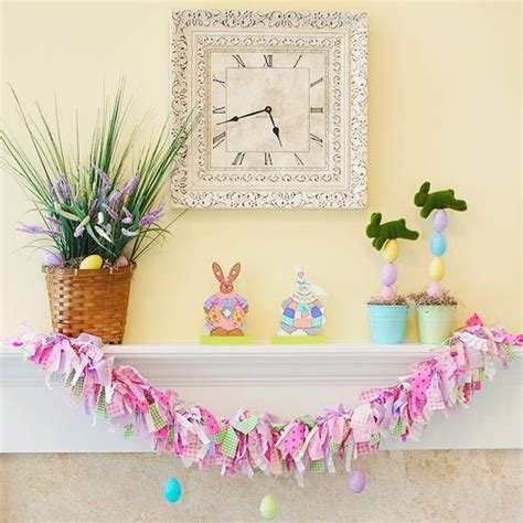 easter mantel 43 stylish easter mantel decorating ideas digsdigs