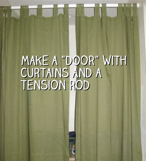 how do you make a door into a swinging bookcase make a door with curtains and a tension rod snappy living