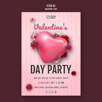 images flyer saint valentin vecteurs   psd gratuits