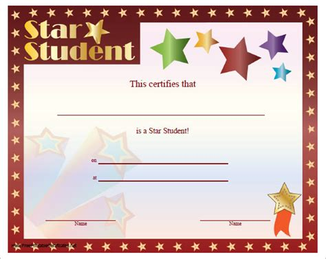 sample certificate templates  kids   documents