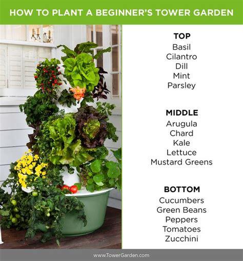 beginner tower garden planting plan aeroponic garden