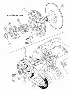 Club Car Driven Clutch Assembly Diagram