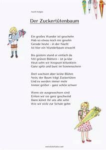 Gedicht Der Lattenzaun : gedicht zuckert tenbaum kita einschulung kita kiste ~ Lizthompson.info Haus und Dekorationen
