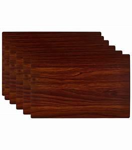 Set De Table Design : set de table design bois fonc en vinyle set de 6 ~ Teatrodelosmanantiales.com Idées de Décoration