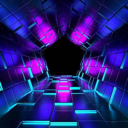 Ubes Tunnel Rendering Purple Ipad Mini 3d