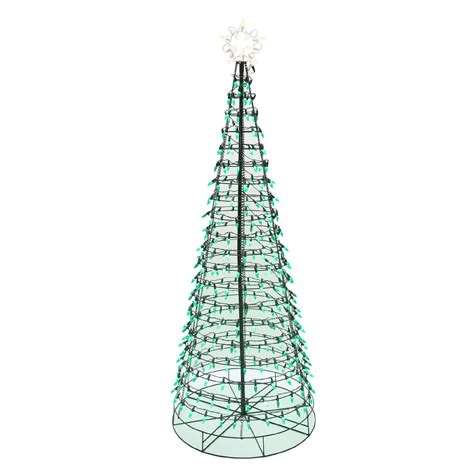 energy best 6 350 green led light metal christmas tree