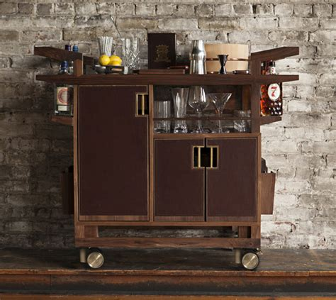 rolling kitchen cabinet wooden bar cart designs homesfeed