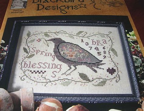 blackbird designs blessings cross stitch sler chart retired oop ebay