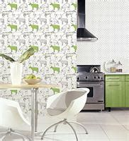 lime green wallpaper for kitchens ke29928 cows floral toile kitchen wallpaper creative 9037