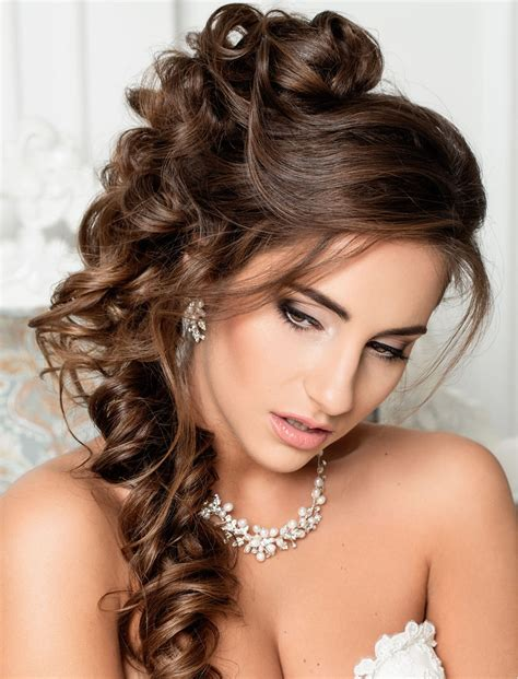 stylish wedding hairstyles  long hair