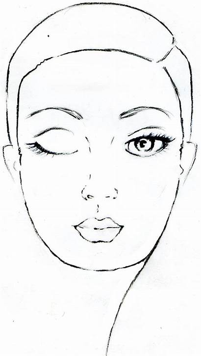 Face Charts Makeup Croquis Chart Maquillage Printable