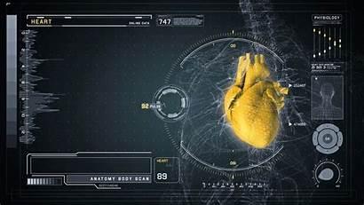Futuristic Interface Medical Anatomy Heart Screen Scan