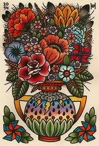 flower vase tattoo | Traditional Tattoos | Pinterest ...