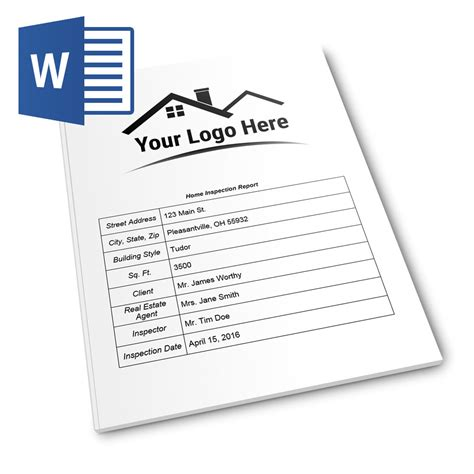 report form pro ms word version home inspection report