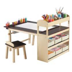 deluxe art center storage desk by guidecraft fab com