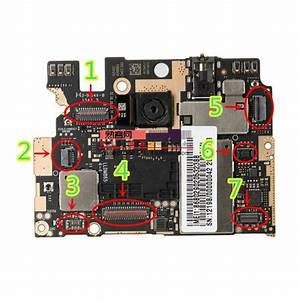 2pcs  Lot Xge Tp Touch Screen Fpc Connector Port Plug For Display  Touch On Mainboard For Xiaomi