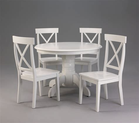 36 Inch Round Wood Pedestal Dining Table With 4 Chairs And