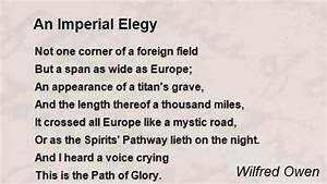An Imperial Elegy Poem by Wilfred Owen - Poem Hunter