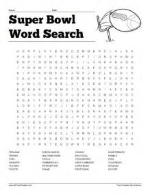 Super Bowl Word Searches Printable Free