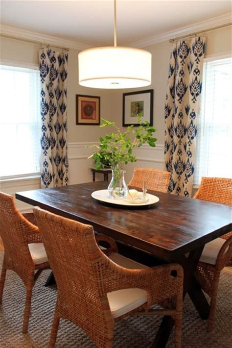 table and chairs eclectic dining rooms and curtain lights