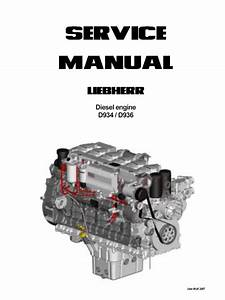 Liebherr Diesel Engines D934    D936 Service Manual Pdf
