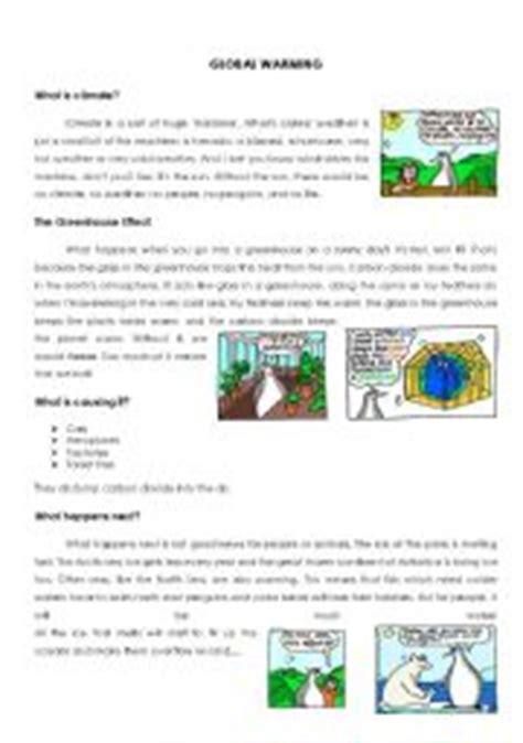 worksheets global warming worksheet