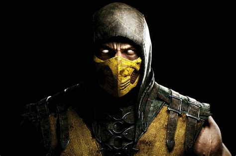 Video Games Face Mortal Kombat X Scorpion Character