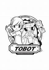 Coloring Tobot Pages Force Mini Coloringtop Cartoon Raskraski Beavers Angry sketch template