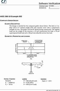 Contents Aisc 360 10 Example 002