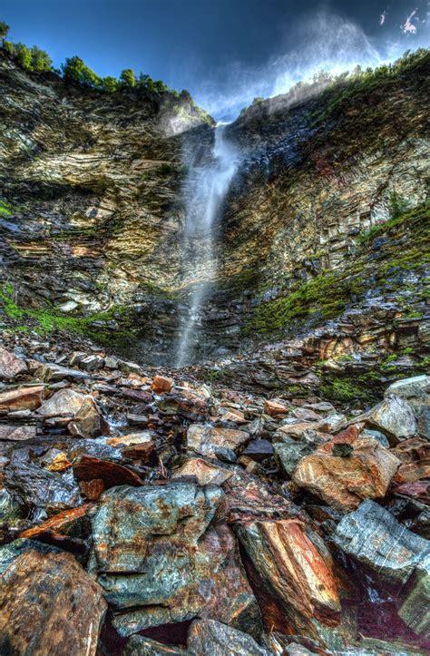 long exposure photography  waterfalls  stock photo