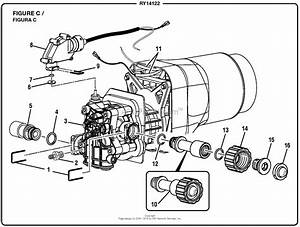 Homelite Ry14122 Pressure Washer Mfg  No  090079270 Parts Diagram For Figure C