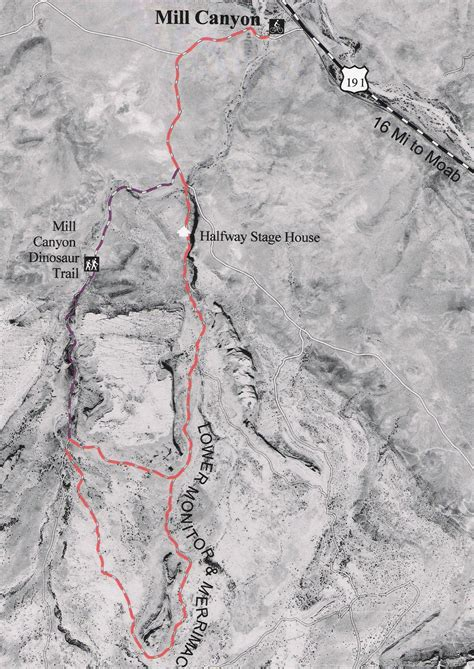 moab jeep trails map lower monitor merrimac the hub to biking in moab utah