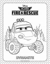 Coloring Dynamite Rescue Fire Planes sketch template