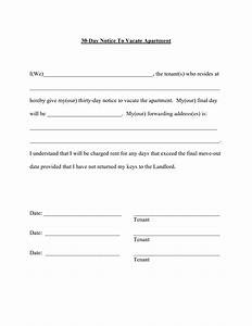 best photos of 30 day notice template 30 day notice With template for 30 day notice to landlord