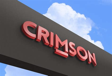 crimson outdoor logo mockup  psd designhooks