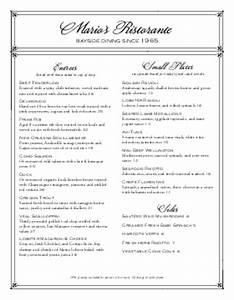 fine dining menu templates musthavemenus With fine dining menu template free