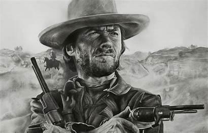 Clint Eastwood Western Risunok Klint Figure Desktop