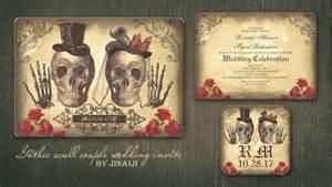 skull wedding invitations read more skull day of dead wedding invitation wedding invitations by jinaiji