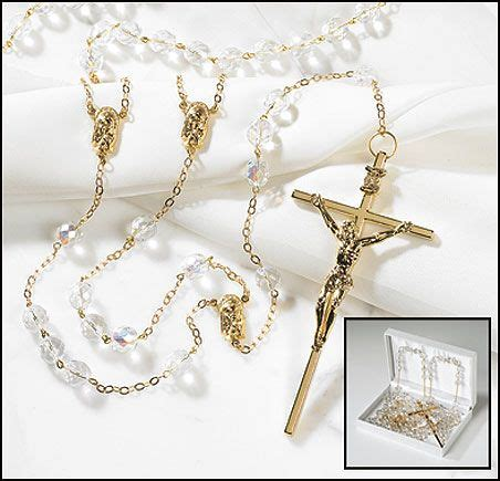 Glass Beads Wedding Double Rosary that my husband and I wore at our wedding.   My Faith