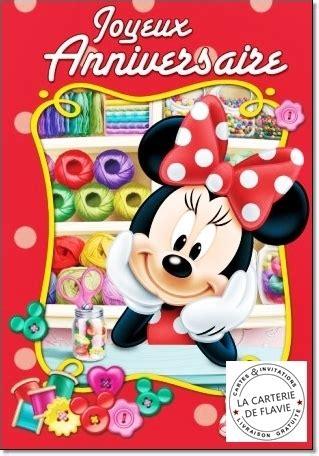 Carte De Voeux Disneyland by Cartes Disney Minnie Livraison Gratuite