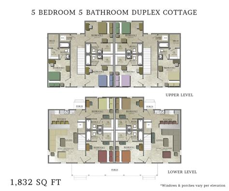 House Plans 5 Bedroom by Beautiful 5 Bedroom Duplex House Plans New Home Plans Design