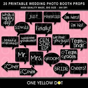 instant download wedding photo booth props by oneyellowdot With wedding photo booth props templates