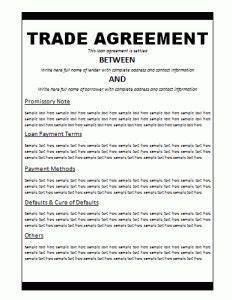 agreement templates free word templates general With international trade contract template