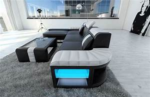 Sofa Dreams : modern sofa bellagio led l shaped black white ebay ~ A.2002-acura-tl-radio.info Haus und Dekorationen