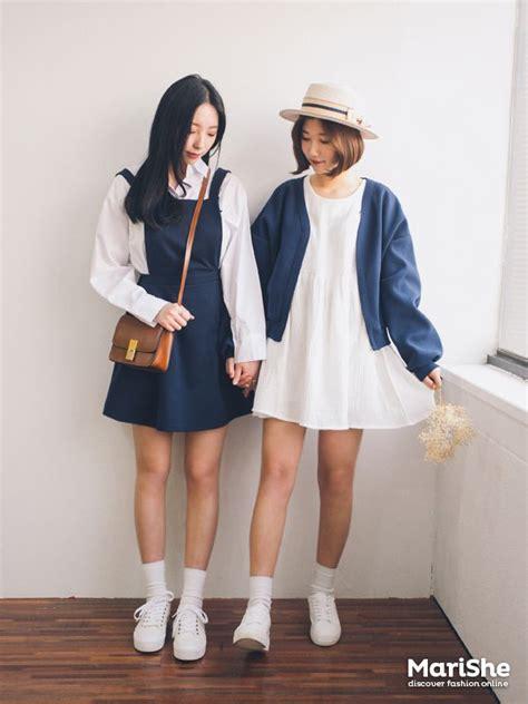 Popular fashion trend in Korea Twin Look Dressing ...