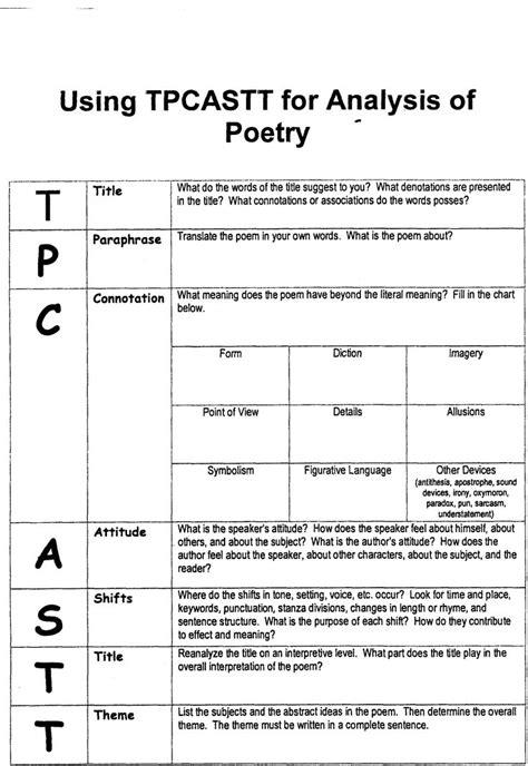 tpcastt worksheet tpcastt form s tools poetry