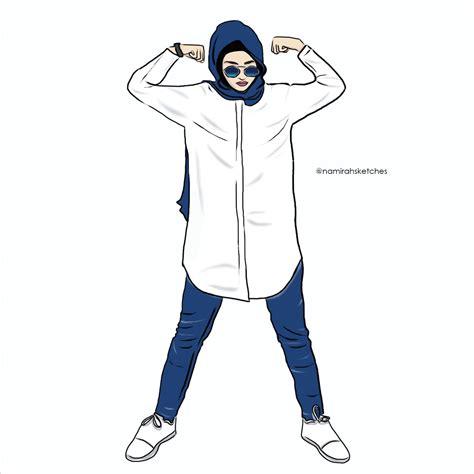 illustration strong girl illustration