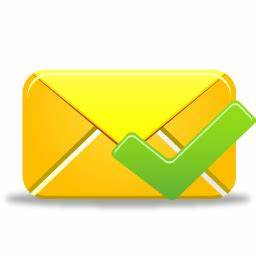 Email validated Icon | Pretty Office 9 Iconset | Custom ...