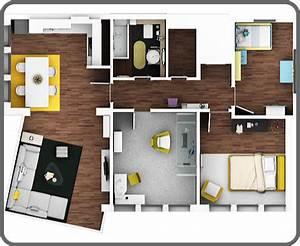 Moderne Häuser Grundriss 3d emphit