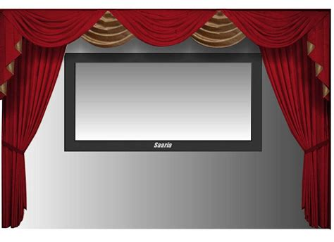 home theater drapes saaria velvet curtains screen home theater stage